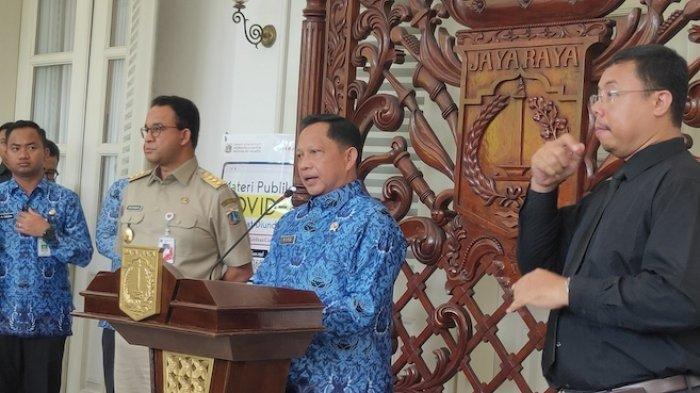 Ketika Mendagri Tito Karnavian Bertemu Anies Bahas Kemungkinan Karantina Wilayah