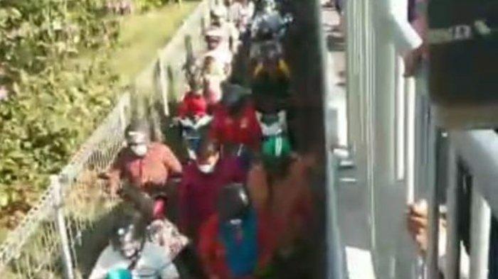 Viral Video Ratusan Pengendara Motor Bobol Pagar Pembatas Jembatan Suramadu, Hindari Swab Massal