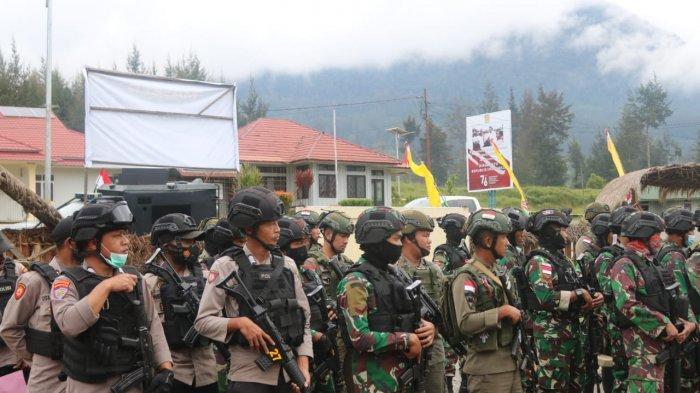 Antisipasi Gangguan KKB dan Kriminlitas, TNI Polri Patroli di Puncak Papua