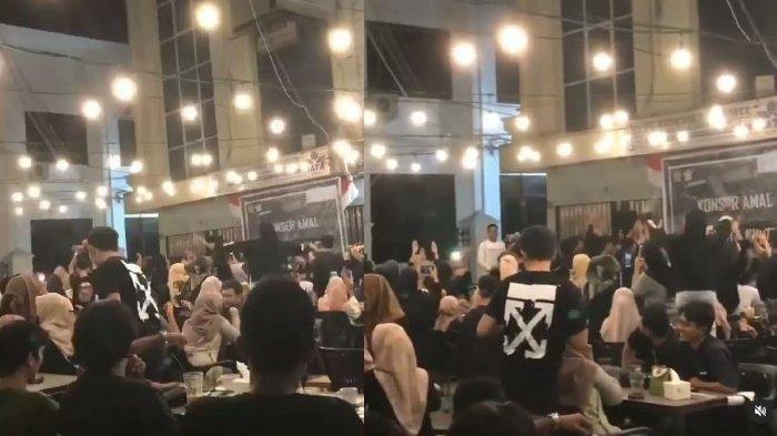 Viral Muda-mudi Joget Tanpa Jaga Jarak di Acara Konser Amal, Kafe Disegel dan 15 Orang Diperiksa