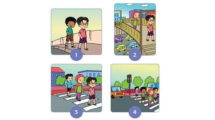 Kunci Jawaban Buku Tematik Tema 8 Kelas 2 SD: Aturan di Jalan Berdasarkan Gambar