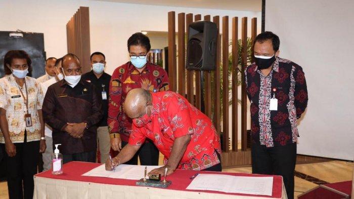 BI dan Pemprov Papua Tandatangani Komitmen Pengendalian Stabilitas dan Disparitas Harga