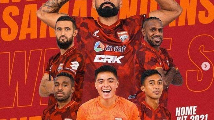 Ada Boaz Solossa di Jersey Borneo FC, Usung Semangat Baru Liga 1 2021