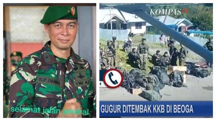 Brigjen TNI Gusti Putu Danny Nugraha gugur saat melakukan kontak tembak dengan kelompok kriminal bersenjata (KKB) di Distrik Beoga, Kabupaten Puncak, Papua, Minggu (25/4/2021)