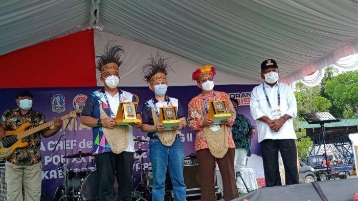 Bupati Jayapura Mathius Awoitauw Terima Rombongan Peserta CdM Meeting II PON XX 2021
