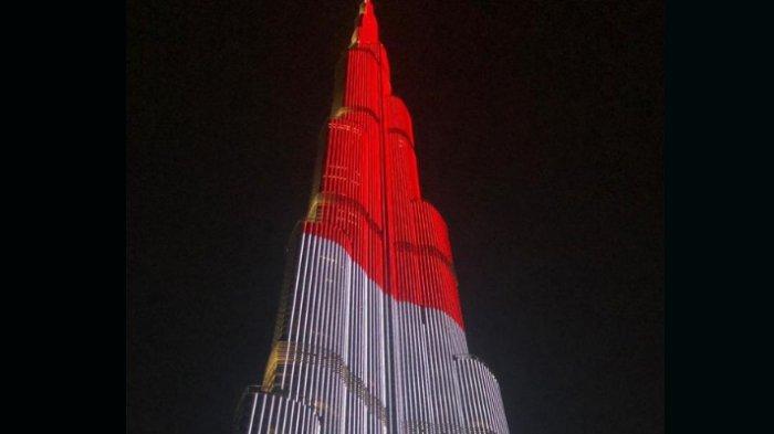 LED Burj Khalifa Tampilkan Bendera Indonesia untuk Pertama Kalinya saat HUT Kemerdekaan RI