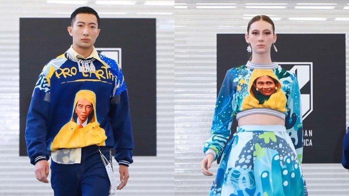 Wajah Jokowi dan Susi Pudjiastuti Berhoodie Kuning di New York Fashion Week 2020