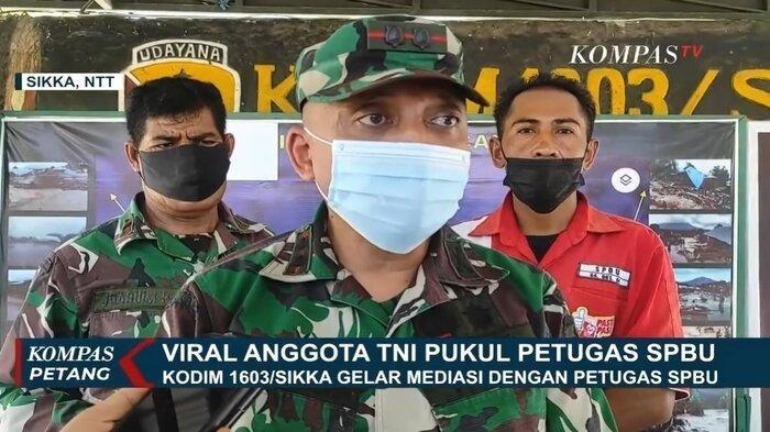 Viral Oknum TNI Tampar Petugas SPBU karena Tak Mau Antre, Dandim 1603 Sikka: Keduanya Sepakat Damai