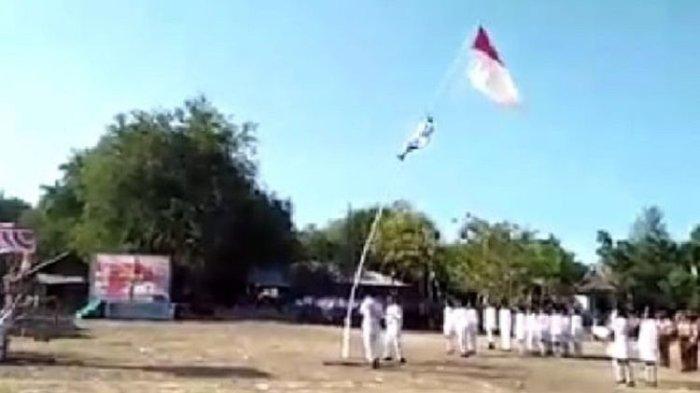 Anggota Paskibra Pingsan setelah Jatuh dari Tiang Bendera saat Perbaiki Tali
