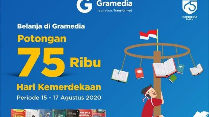Promo Gramedia Sambut HUT ke-75 RI, Ada Diskon hingga Rp 75.000