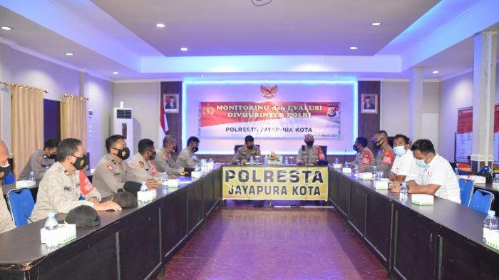 Lakukan Monitoring dan Evaluasi Perbatasan, Divhubinter Polri Kunjungi Polresta Jayapura Kota