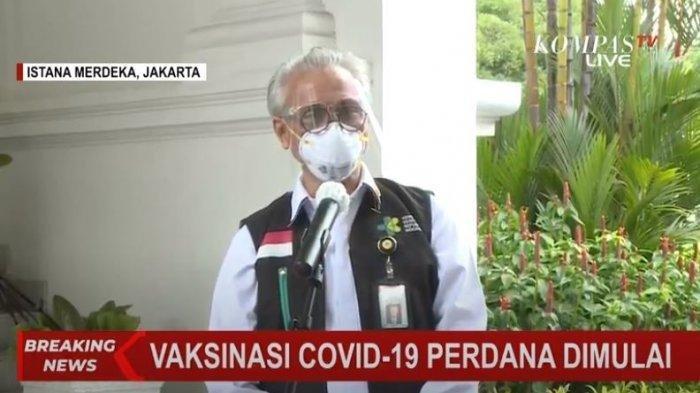 Gemetar saat Suntik Vaksin Covid-19 ke Jokowi, Dokter Abdul: Ya Menyuntik Orang Pertama di Indonesia