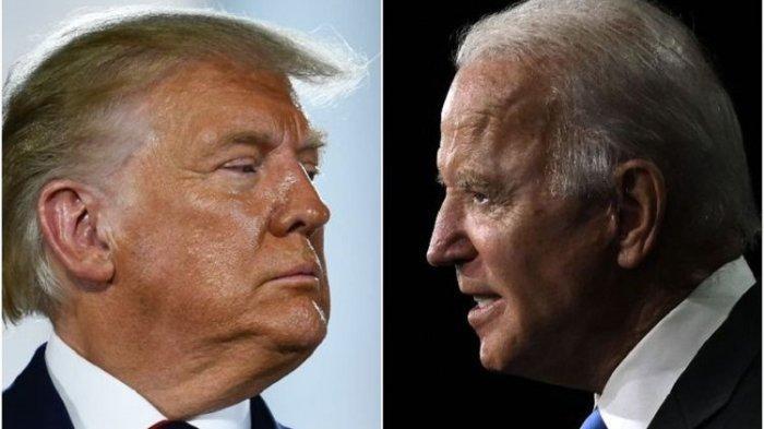 Presiden Amerika Serikat Donald Trump dan lawannya di pemilu 2020, mantan Wakil Presiden Joe Biden.