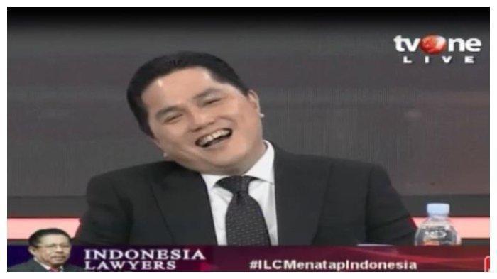 Disebut Keteteran Jadi Menteri dan Diminta Mundur oleh Sudjiwo Tedjo, Erick Thohir Tertawa