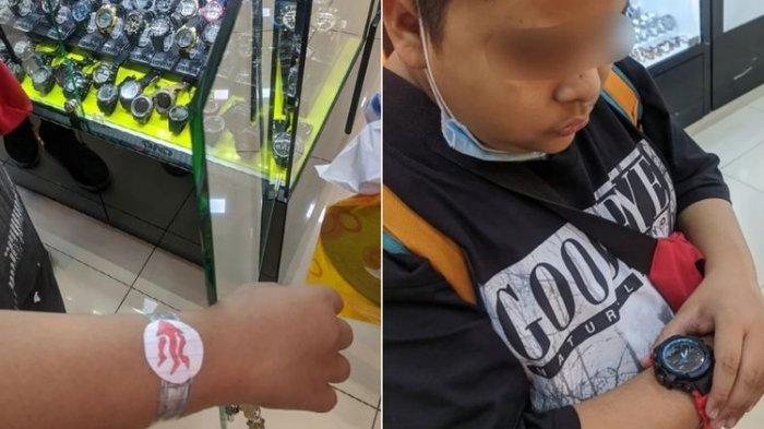 Viral Kisah Haru, Bocah Pakai Jam Tangan dari Kertas Menangis saat Dibelikan Jam Sungguhan