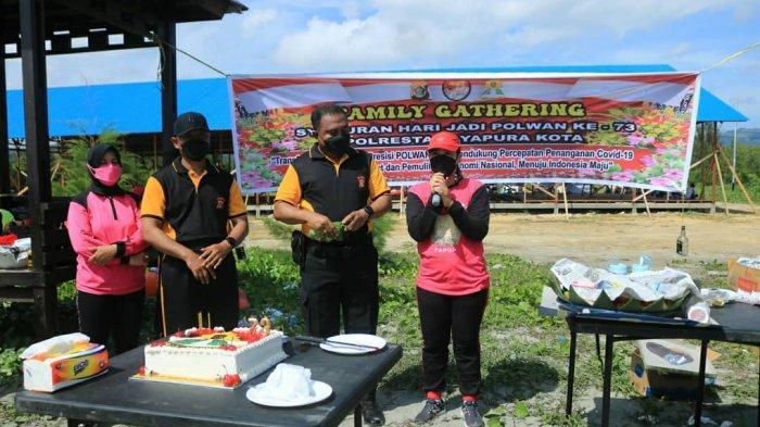 Polresta Jayapura Kota Gelar Family Gathering Dalam Rangka HUT Polwan Ke-73