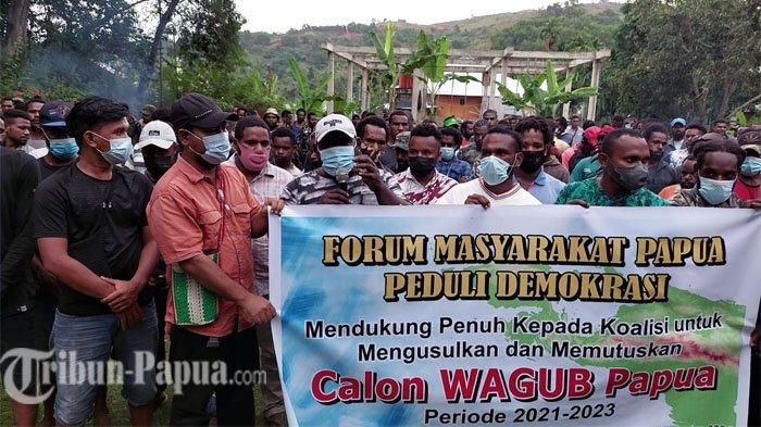 BREAKING NEWS: Forum Masyarakat Papua Peduli Demokrasi Dukung Koalisi Umumkan Calon Wagub