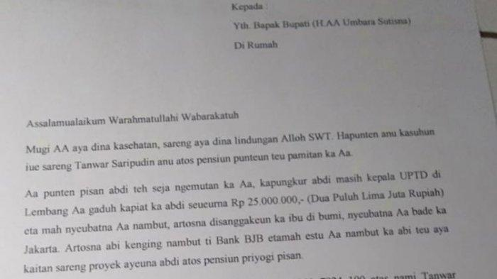 Kisah Viral, Bupati Bandung Dikirimi Surat Tagihan Rp 25 Juta oleh Mantan PNS: Aa Punten