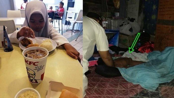 VIRAL Gadis Kecil Menolak Makan Enak, Teringat Sang Adik di Rumah yang Belum Makan dari Pagi
