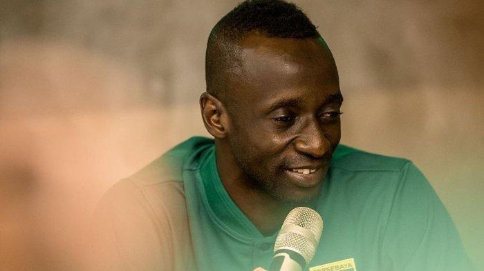 Gelandang asal Mali, Makan Konate, yang bergabung dengan Persebaya Surabaya pada musim 2020.