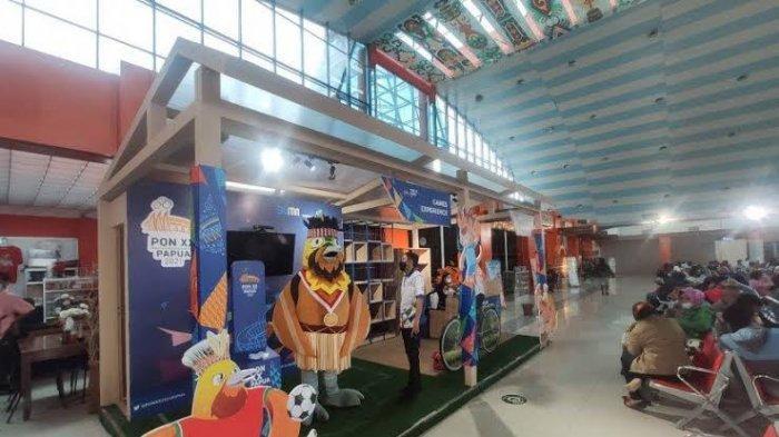 20 Hari Menjelang PON XX 2021, Pernak Pernik PON Hiasi Bandar Udara Sentani Jayapura