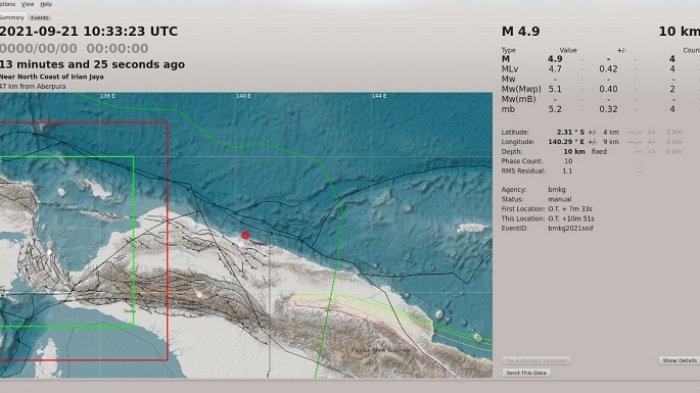 Gempa Berkekuatan 4,9 Magnitudo Guncang Kabupaten Jayapura
