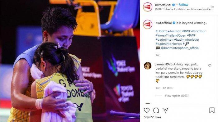 Menangis seusai Tanding, Greysia Polii Ungkap Duka di Balik Bahagia Jadi Juara Thailand Open 2021