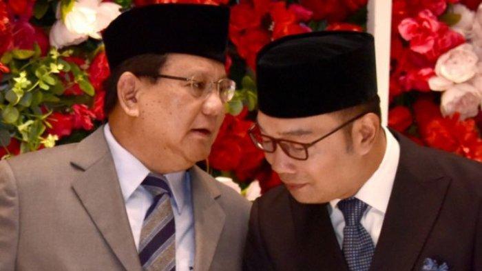 Bertemu Prabowo, Gubernur Jabar Ridwan Kamil Minta Maaf