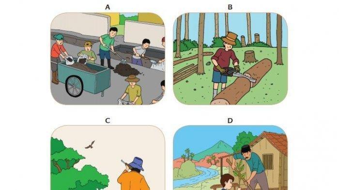 Kunci Jawaban Buku Tematik Tema 9 Kelas 4 SD: Pelestarian Kekayaan Sumber Daya Alam di Indonesia