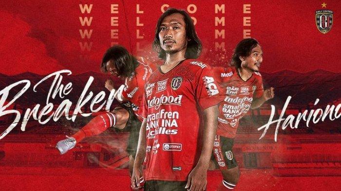 Hariono Resmi Gabung ke Bali United setelah Dilepas Persib Bandung