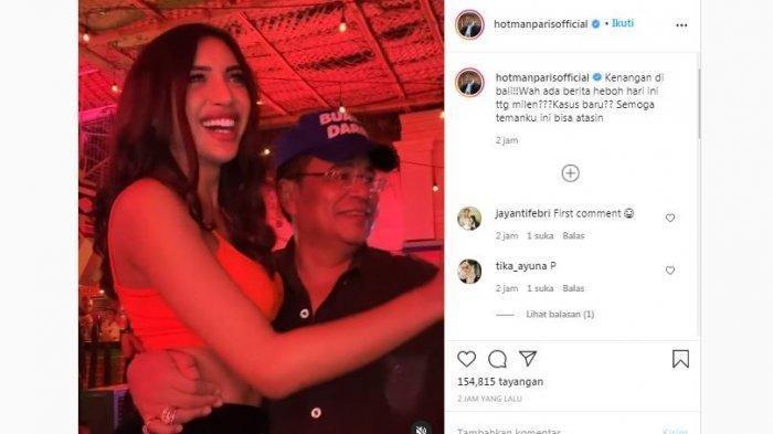 Unggahan Instagram pengacara Hotman Paris bersama selebgram Millen Cyrus, Senin (23/11/2020). Hotman menyoroti kasus dugaan penyalahgunaan narkoba yang menjerat Millen.