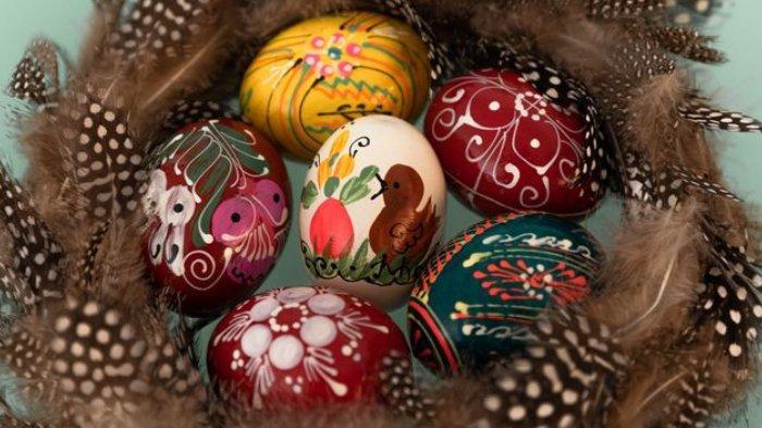 Ilustrasi telur Paskah.
