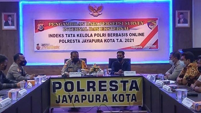 Indeks Tata Kelola Kepolisian, Pelayanan Polresta Jayapura Kota Dinilai Sangat Memuasakan