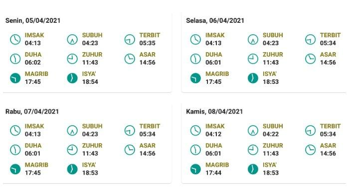 Jadwal salat, buka puasa, dan imsak untuk Jayapura 5-8 April 2021