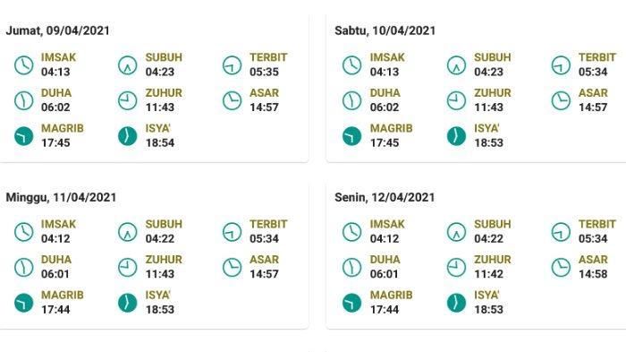 Jadwal salat, buka puasa, dan imsak untuk Jayapura 9-12 April 2021