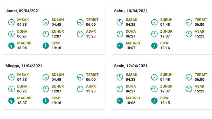 Jadwal salat, buka puasa, dan imsak untuk Makassar 9-12 April 2021