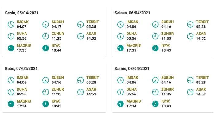 Jadwal salat, buka puasa, dan imsak untuk Surabaya, Jawa Timur 5-8 April 2021