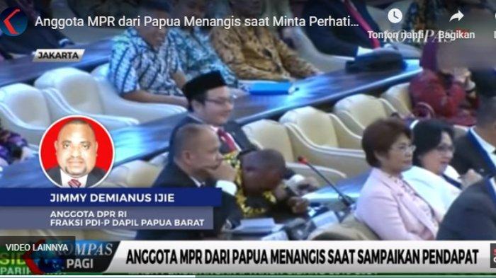 Siapakah Sosok Jimmy Demianus Ijie yang Menangis saat Bicara soal Papua di Rapat Paripurna MPR?