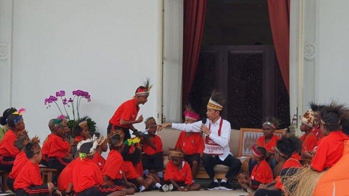 Undang Anak SD Papua ke Istana, Jokowi: Makan Dulu, Habis Itu Nanti Jalan-jalan Keliling Jakarta