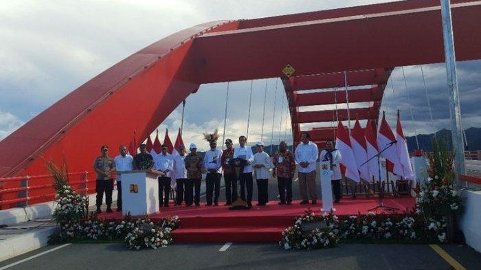 Jembatan Holtekamp Papua yang Diresmikan Jokowi Dapat MURI hingga Pangkas Akses Jayapura-PLBN