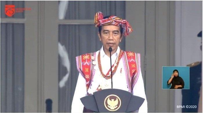 Jokowi Kenakan Baju Adat Timor Tengah Selatan saat Upacara di Istana, Ini Makna di Balik Busananya
