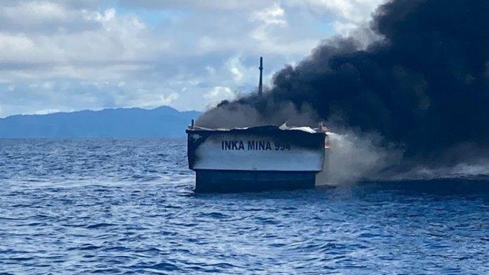 Enam ABK Kapal Inka Mina yang Terbakar di Perairan Raja Ampat Ditemukan