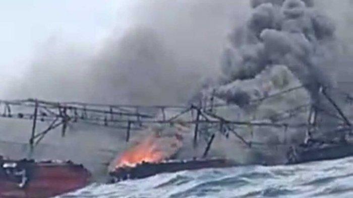 25 ABK KM Hentri yang Lompat ke Laut Maluku Belum Ditemukan, 10 Hari Sejak Kapal Terbakar