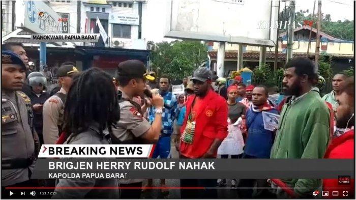 Kerusuhan di Manokwari, Kapolda Papua Barat Temui Massa di Jalan