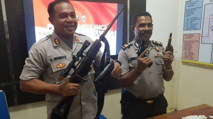 Petugas Menyisir Semak-semak dan Temukan Senjata Api, Diselidiki Hubungan dengan KKB Papua