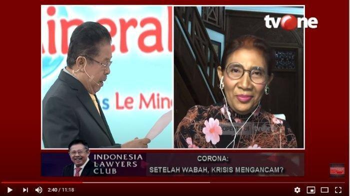 Ketika Susi Pudjiastuti Ingatkan Karni Ilyas soal Pernyataan terkait Corona: Nanti Salah, Kena Lagi