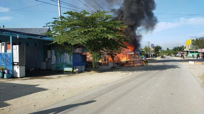 Kompor Meledak, 2 unit Kios di Koya Barat, Jayapura Terbakar