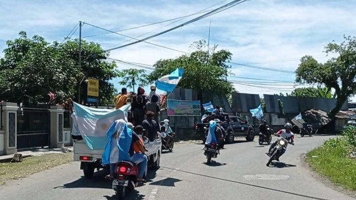 Imbauan PPKM, Pendukung Brazil dan Argentina di Manokwari Tetap Konvoi
