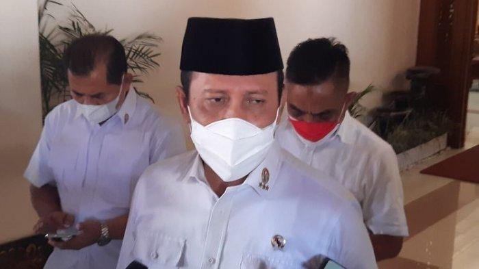 Kepala BNPT Komjen Pol Boy Rafli Amar di Balai Kota Solo, Kamis (19/8/2021).