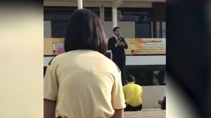Panik Skandal Mesumnya dengan Murid Terbongkar, Kepala Sekolah Ini Acungkan Pistol saat Upacara
